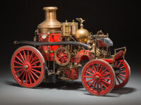 Vintage Hand-Built Live-Steam Model of a American La France Fire Pumper 25 x 17-1/2 x 9-1/2 inches (63.5 x 44.5 x