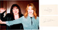 Music Memorabilia:Autographs and Signed Items, Heart: Ann and Nancy Wilson Individual Signatures With Color Photo....