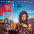 Music Memorabilia:Autographs and Signed Items, Robert Plant: Now and Zen LP Promotional Flat Signed....