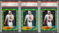 Football Cards:Lots, 1986 Topps Steve Young PSA NM-MT 8 Graded Trio (3).... (Total: 3 items)