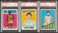 Basketball Cards:Lots, 1971 & 1972 Topps Basketball PSA Graded Trio (3) - Chamberlain & Issel. ... (Total: 3 items)
