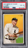 Baseball Cards:Singles (Pre-1930), 1912 T227 Miners Extra Ty Cobb PSA VG-EX 4 - Only One Higher. ...
