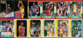 Basketball Cards:Lots, 1986 to 1996 Fleer and Stadium Club Basketball Collection (12)....