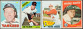 Baseball Cards:Lots, 1959 to 1966 Topps Baseball Star card Collection (4). ...