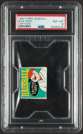 Baseball Cards:Unopened Packs/Display Boxes, 1960 Topps Tattoos Unopened Wax Pack PSA NM-MT 8. ...