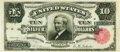 Large Size:Silver Certificates, Fr. 298 $10 1891 Silver Certificate PMG Extremely Fine 40.. ...