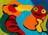 Karel Appel (1921-2006) Composition, 1975 Lithograph in colors on wove paper 22 x 30 inches (55.9