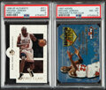 Basketball Cards:Singles (1980-Now), 1997-98 SP Authentic & Hoops Michael Jordan PSA-Graded Pair. ... (Total: 2 items)