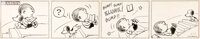 Charles Schulz Peanuts Daily Comic Strip Snoopy Original Art dated 11-17-50 (United Feature Syndicate, 1950)