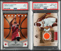 Basketball Cards:Lots, 2006-2007 U.D. Ovation & SP Game Used LeBron James PSA Graded Pair (2).... (Total: 2 items)