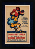 Football Collectibles:Others, 1940 Chicago Cardinals Broadside From First Season at Comiskey Park (With Packers Game Featured!)....