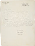 Autographs, Niels Bohr Typed Letter Signed....