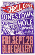Music Memorabilia:Posters, Hole Cancelled Blue Gallery Concert Poster (1990). ...
