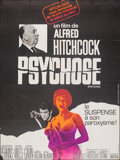 """Movie Posters:Hitchcock, Psycho (Universal, R-1969). Folded, Fine+. French Grande (46"""" X 61.5""""). Hitchcock.. ..."""