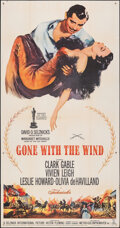 """Movie Posters:Academy Award Winners, Gone with the Wind (MGM, R-1961). Folded, Fine/Very Fine. Three Sheet (41"""" X 78.5""""). Academy Award Winners.. ..."""