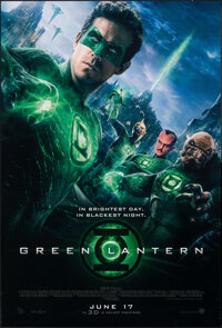 """Green Lantern & Other Lot (Warner Bros., 2011). Rolled, Very Fine+. One Sheets (3) (27"""" X 40"""") DS Advance..."""