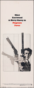 """Movie Posters:Action, Magnum Force (Warner Bros., 1973). Folded, Fine+. Insert (14"""" X 36""""). Action.. ..."""