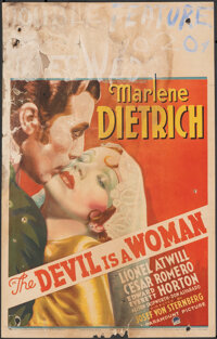 """The Devil is a Woman (Paramount, 1935). Very Good. Window Card (14"""" X 22""""). Romance"""