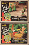 """Movie Posters:Animation, Fun and Fancy Free (RKO, 1947). Overall: Fine/Very Fine. Lobby Card (2) (11"""" X 14""""). Animation.. ... (Total: 2 Items)"""