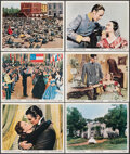 """Movie Posters:Academy Award Winners, Gone with the Wind (MGM, R-1968). Overall: Very Fine. Color Photos (6) & Photo (8"""" X 10""""). Academy Award Winners.. ... (Total: 7 Items)"""