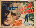 """Movie Posters:Horror, Before I Hang (Columbia, 1940). Folded, Fine. Half Sheet (22"""" X 28"""") & Title Lobby Card (11"""" X 14""""). Horror.. ... (Total: 2 Items)"""