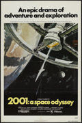 "Movie Posters:Science Fiction, 2001: A Space Odyssey (MGM, R-1980). One Sheet (27"" X 41""). ScienceFiction...."