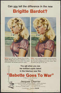 """Babette Goes to War (Columbia, 1960). One Sheet (27"""" X 41""""). Comedy"""
