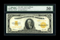 Large Size:Gold Certificates, Fr. 1173 $10 1922 Gold Certificate PMG About Uncirculated 50EPQ....