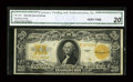 Large Size:Gold Certificates, Fr. 1187 $20 1922 Gold Certificate CGA Very Fine 20....