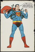 "Movie Posters:Animated, Superman Promotional Poster (DC Comics, 1966). One Sheet (27"" X41""). Animated...."
