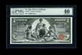 Large Size:Silver Certificates, Fr. 247 $2 1896 Silver Certificate PMG Extremely Fine 40....