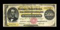 Large Size:Gold Certificates, Fr. 1216b $500 1882 Gold Certificate Fine....