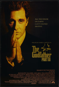 "The Godfather Part III (Paramount, 1990). One Sheet (27"" X 41""). Crime"