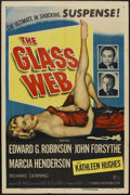 """Movie Posters:Crime, The Glass Web (Universal International, 1953). One Sheet (27"""" X 41""""). Crime...."""