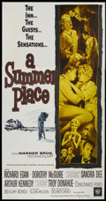 "Movie Posters:Romance, A Summer Place (Warner Brothers, 1959). Three Sheet (41"" X 81""). Romance...."
