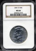 Kennedy Half Dollars: , 2001-D MS66 NGC. ...