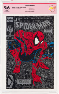 Spider-Man #1 Silver Edition - Verified Signature: Todd McFarlane (Marvel, 1990) CBCS NM+ 9.6 White pages