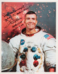 Explorers:Space Exploration, Fred Haise Signed White Spacesuit Color Photo with Handwri...