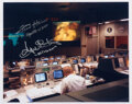 Explorers:Space Exploration, Apollo 13: NASA Mission Control Color Photo Signed by Gene...