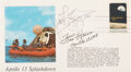 Explorers:Space Exploration, Apollo 13: Splashdown Cover Signed by James Lovell and Fre...