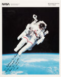 Explorers:Space Exploration, Bruce McCandless II: Signed Color Photo of the STS-41-B Un...