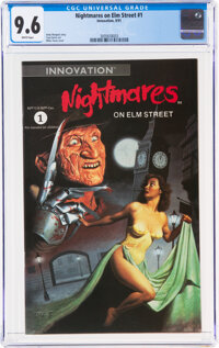 Nightmares on Elm Street #1 (Innovation, 1991) CGC NM+ 9.6 White pages