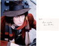 Movie/TV Memorabilia:Autographs and Signed Items, Doctor Who: Signature of Fourth Doctor Tom Baker With Color Photo. ...
