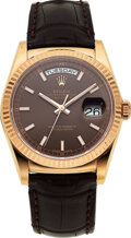 Timepieces:Wristwatch, Rolex, Everose Gold Oyster Perpetual Day-Date, Ref. 116135...
