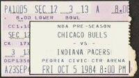 1984 Michael Jordan First NBA Preseason Game Ticket Stub