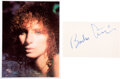 Music Memorabilia:Autographs and Signed Items, Barbra Streisand Large Signature With Color Photo....