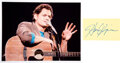 Music Memorabilia:Autographs and Signed Items, Harry Chapin Signature With Color Photo....
