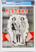Magazines:Miscellaneous, Playboy #2 (HMH Publishing, 1954) CGC VG 4.0 Off-white to white pages....