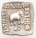 Ancients:Oriental, Ancients: INDO-GREEK KINGDOMS. Bactria. Apollodotus I Soter (ca. 174-165 BC). AR Indic square drachm (20mm, 2.30 gm, 12h). Choice VF. ...