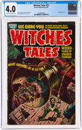 Golden Age (1938-1955):Horror, Witches Tales #25 (Harvey, 1954) CGC VG 4.0 Cream to off-white pages....